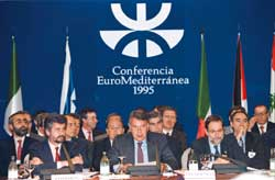 Spanish Prime Minister Felipe González during the Euro-Mediterranean Conference of Barcelona in 1995