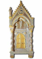 Tabernacle attributed to Arnolfo da Cambio, 14th century, Basilica of San Clemente, Rome
