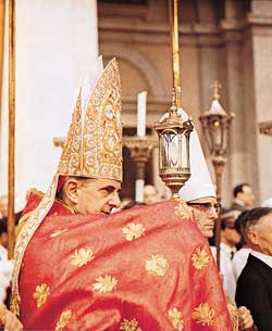 Cardinal Giovanni Battista Montini during the 