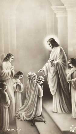 A holy picture from the period of First Communion