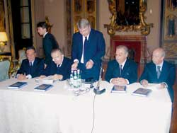 The launch of the Italian edition of the book Dall' Urss alla Russia (From the USSR to Russia) by Evgenij M. Primakov, November 2 2005, at the Russian embassy in Rome