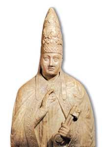 Busto di Bonifacio VIII proveniente  dal suo sacello, Sala San Giovanni, Palazzo Apostolico Vaticano, Città  del Vaticano