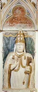 Papa Benedetto XII in un busto di Paolo da Siena, XIV secolo, Sacre Grotte, Città del Vaticano