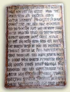 L'epigrafe sepolcrale di Benedetto XI, chiesa di San Domenico, Perugia