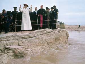 Paul VI on the bank of the Jordan, the Homeland of Jesus