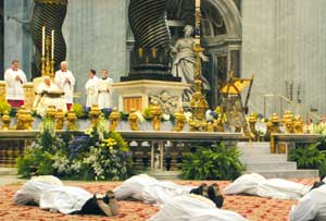 A priestly ordination in Saint Peter's Basilica