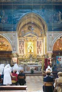 A igreja do santuário