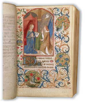 The Virgin Mary, illumination taken from the Book of the Hours of the Blessed Virgin Mary, written and illustrated in France, XV century, Canterbury Cathedral