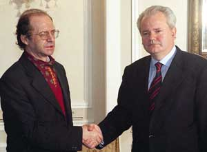 Ibrahim Rugova and Slobodan Milosevic