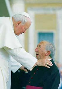 Giussani's last meeting with John Paul II, Saint Peter's Square, 30 May 1998