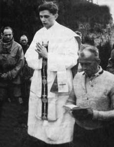 A mass celebrated by Ratzinger among the mountains near Ruhpolding, 