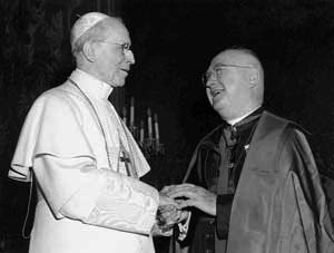 Cardinal Francis Spellman, Archbishop of New York, with Pius XII.