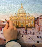The making of a view of Saint Peter's in mosaic