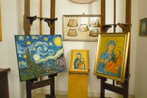 Some works displayed in the atelier 