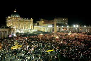A crowd in Saint Peter's Square