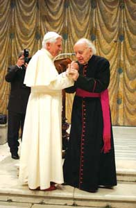 The Pope with Domenico Bartolucci