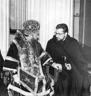 Nikodim with Father Miguel Arranz in Leningrad in 1971