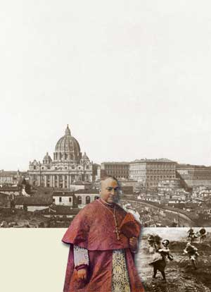 In the background, Saint Peter's Basilica and the Vatican 