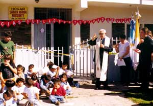 Father Paul Piron in his mission