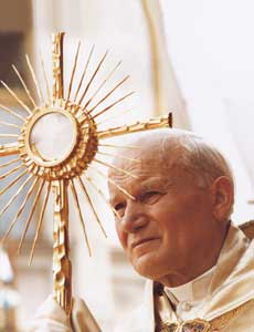 John Paul II during the Corpus Christi procession