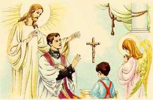"""Un'illustrazione tratta dal catechismo Dottrina cristiana I, riedito da """"30GIORNI""""."""