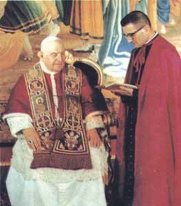 Giovanni XXIII e Loris Francesco Capovilla, suo segretario particolare prima a Venezia poi in Vaticano