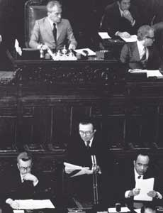 Giulio Andreotti, head of the government known as 