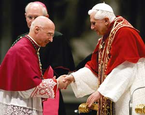 Archbishop Angelo Bagnasco with Benedict XVI