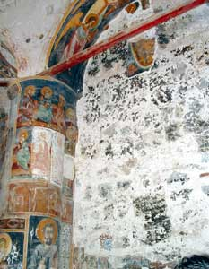The priceless fresco of the Second Coming (15th century) of the monastery of Antiphonitis, in the town of Kalogrea