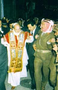 L'arrivo di Paolo VI a Gerusalemme attraverso la Via Dolorosa