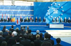 The ceremony of the solemn Common Declaration in Berlin by the Heads of State and Government of the European Union, 25 March 2007