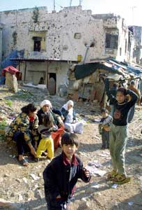 Palestinians in the Shatila refugee camp in Lebanon