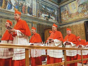 Cardinals entering conclave