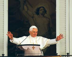Pope Benedict XVI during  