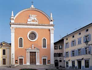 The Church of San Marco in Rovereto where Rosmini was baptized 