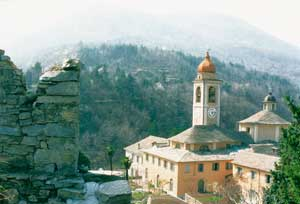 Panoramic view of the complex of the Mount Calvary of Domodossola