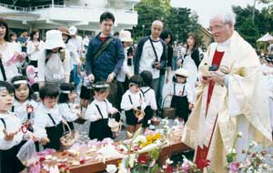 Don Giuseppe Piazzini in the mission of Fujieda in Japan