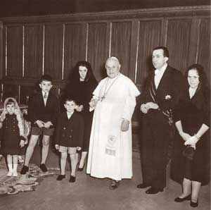 In audience with John XXIII, 