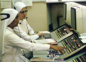 Nuns in the Vatican telephone exchange