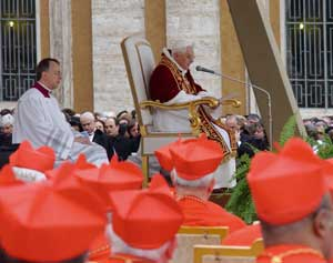 Benedict XVI during the Consistory of 24 March 2006
