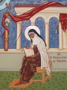 <I>Santa Maria Madalena de Pazzi, mulher que o Espírito habita</I>, ícone de irmã Benedetta Tenore, coleção particular