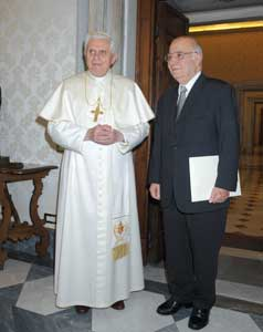 Shawqi Jabriel Armali in audience with Benedict XVI, 10 December 2007