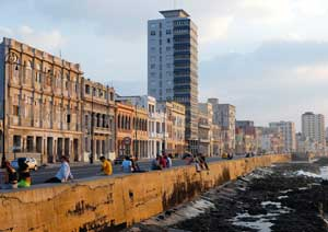A shot of the Havana coastline