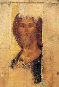 The Pantocrator, Andrei Rublëv, from Deesis of Zvenigorod, Tret'jakov gallery, Moscow