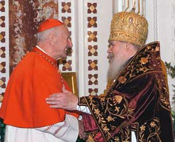 Cardinal Roger Etchegaray with Alexis II