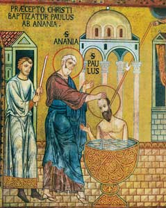 The baptism of St. Paul