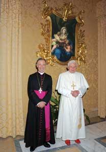 Benedict XVI receiving Monsignor Ladaria Ferrer in audience at Castel Gandolfo, 10 September 2008 [© Osservatore Romano]