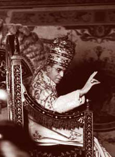 Eugenio Pacelli, born in Rome on 2 March 1876, elected Pope on 2 March 1939 under the name of Pius XII, died at Castel Gandolfo on 9 October 1958