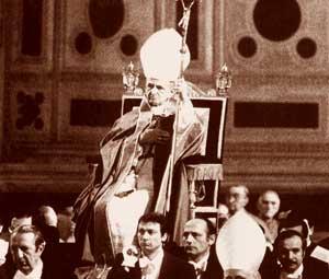 Paven i Aldo Moros begravelse