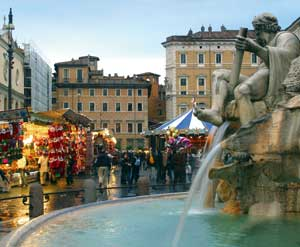 The traditional Christmas market stalls in Piazza Navona in Rome [© Grazia Neri]
